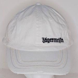 Jagermeister Off-White Distressed Strapback Hat